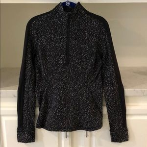 Lululemon Athletica Black and white dots sweater